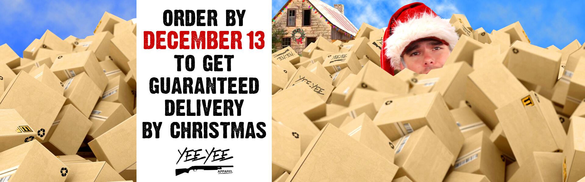 Dec. 13 delivery