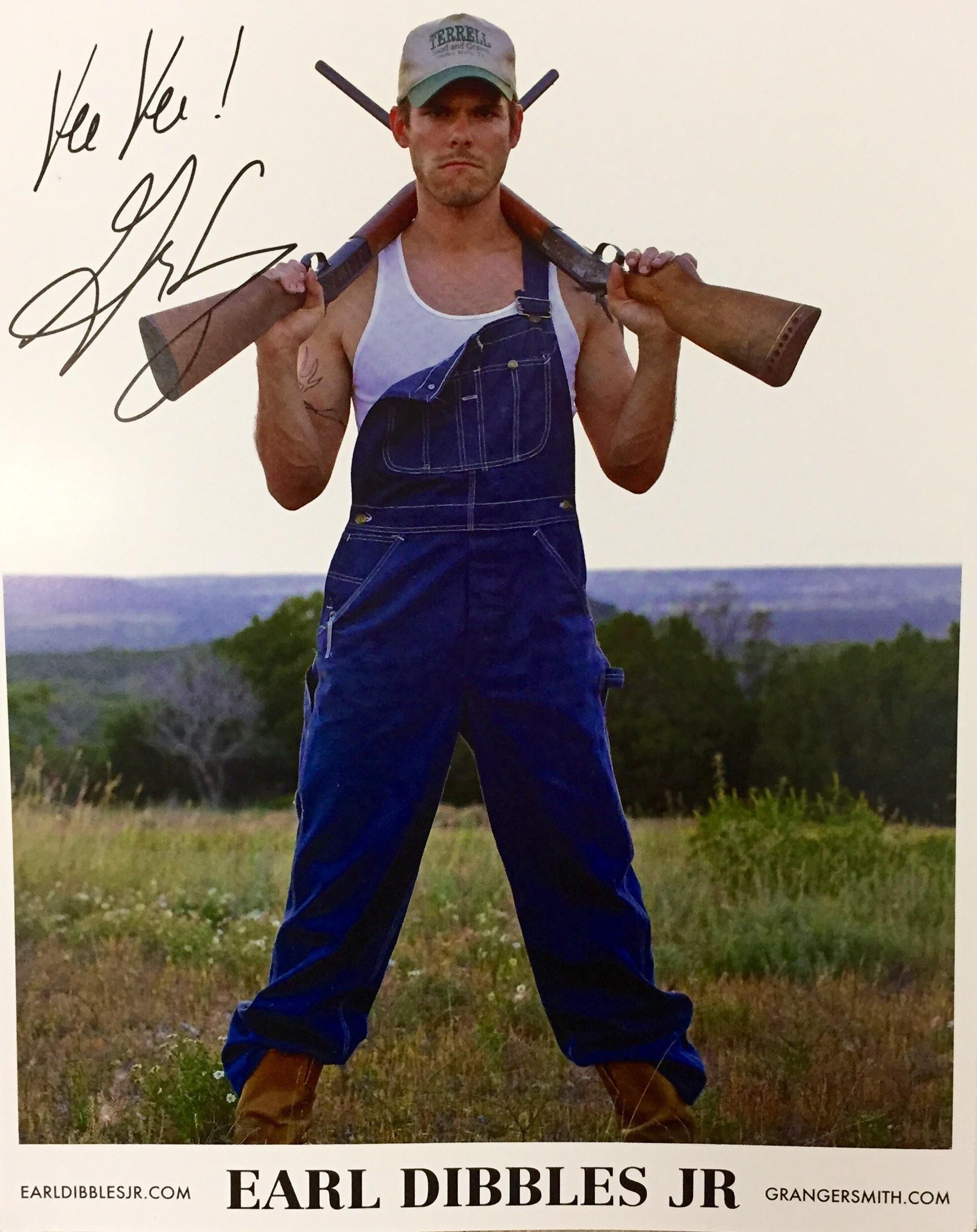 Earl Dibbles Jr 8x10 poster (signed)