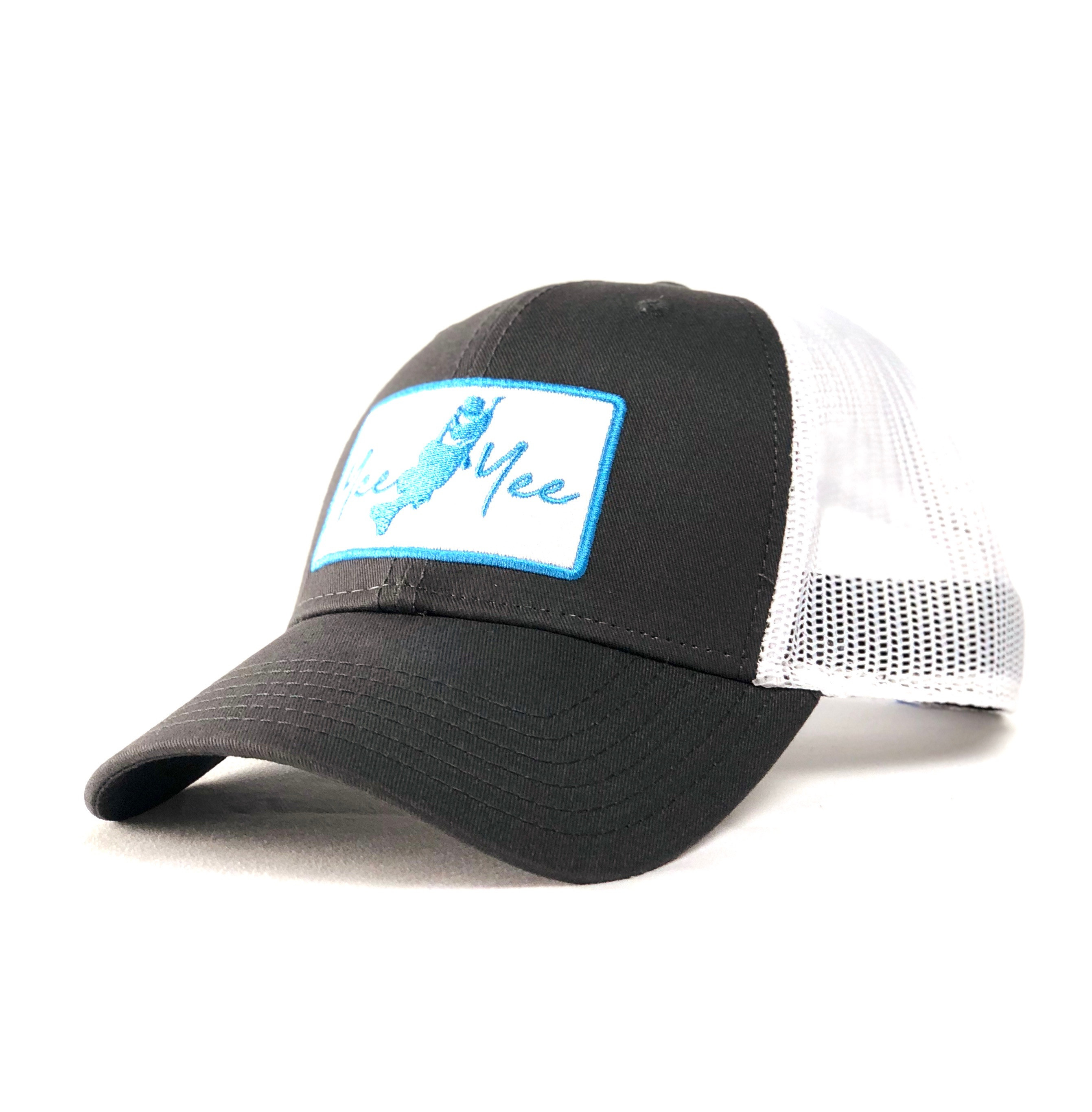 Charcoal/ Teal Bass Cap